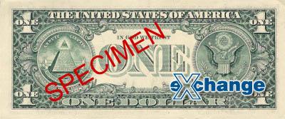 Rub bankovky nominální hodnoty 1 USD